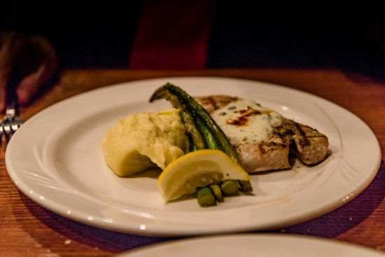 Edgewaters: Grilled Swordfish, Mashed Potatoes, Asparagus