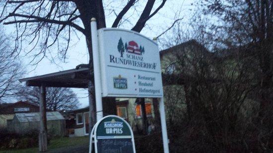Konken, Deutschland: sign at entrance to hotel grounds