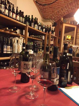 barbera tasting in the cellar