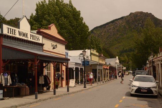 Arrowtown main street with period shopping