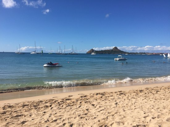 Rodney Bay: view from the beach
