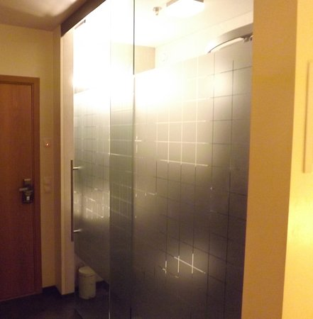 Wonderful Hotel Vik Arctic Comfort: Frosted Glass Doors To Bathroom And Toilet