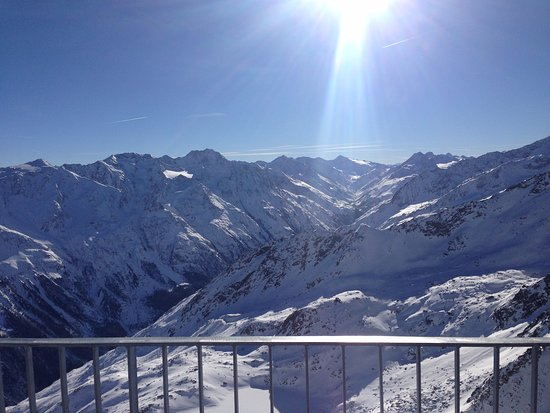 Panorama dalla terrazza: ore 13,30 - Bild von ice Q, Sölden ...