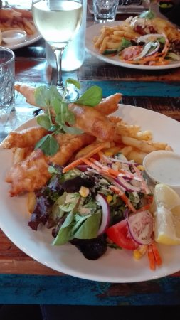 Queenscliff, Australië: fish and chips...yumm
