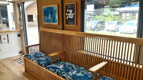 Nichinan, Japan: 列車內的座椅設計