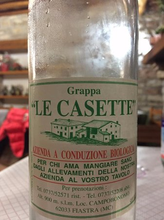 Fiastra, Ιταλία: grappa !!!!