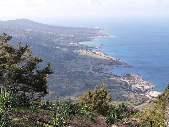 Latchi, Cyprus: View west soon after starting the descent