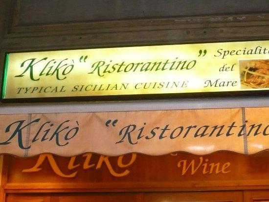 Kliko Ristorantino Da Giuseppe: Restaurant Signage