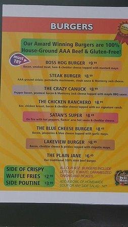 Cobden, Canadá: menu