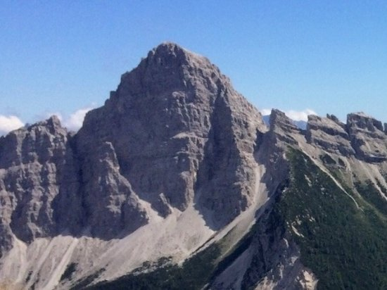 Cibiana di Cadore, Itálie: Sassolungo di Cibiana visto da Monte Rite