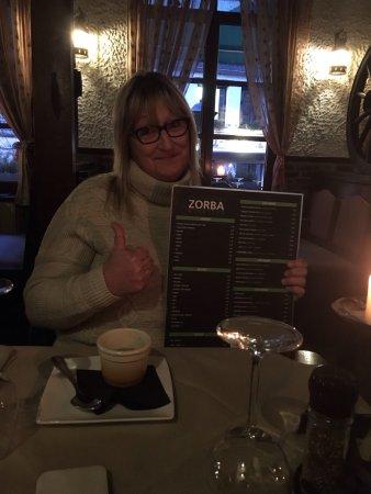 Zorba : Herinnering aan onze huwelijksverjaardag.