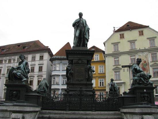 Erzherzog Johann Brunnen: Arcyksiążę Jan Habsburg