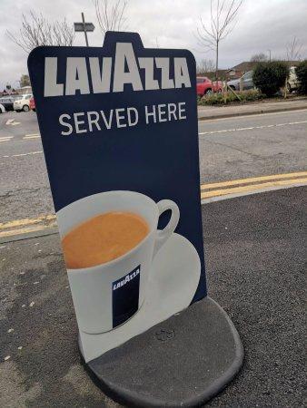 Poulton Le Fylde, UK: Lavazza sign