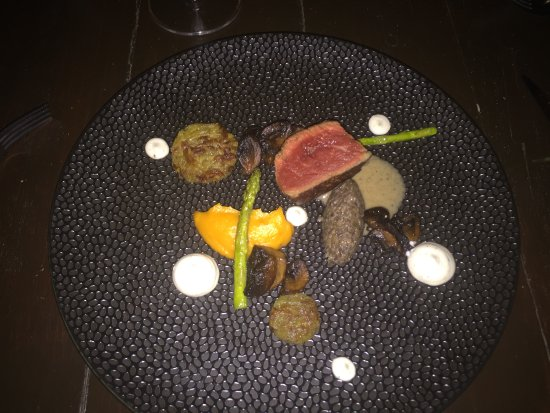 One of the Suburb 5 courses of the Surprise menu At Sea