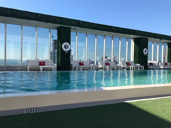 The pool on 50th floor - Picture of W Miami, Miami - TripAdvisor