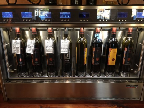 Marble Falls, TX: With a $15 Wine Cuvee Tasting card, this is a great way to select your own wine samples and size