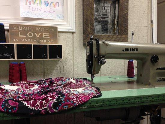 Jessica's Straightstitch Machine In Her Sewing Studio At 40 James Mesmerizing Sewing Machine Sound