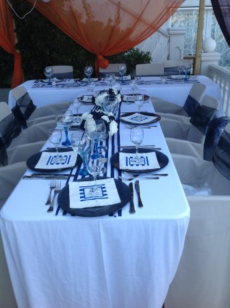 Hotel La Riviera: Our table set for wedding breakfast overlooking the sea