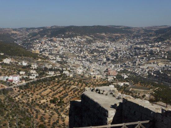 Jerash, จอร์แดน: Vue sur la ville et les oliviers