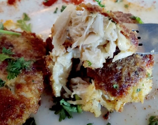 Bay Saint Louis, Μισισιπής: Crab Cakes, full of crab meat...