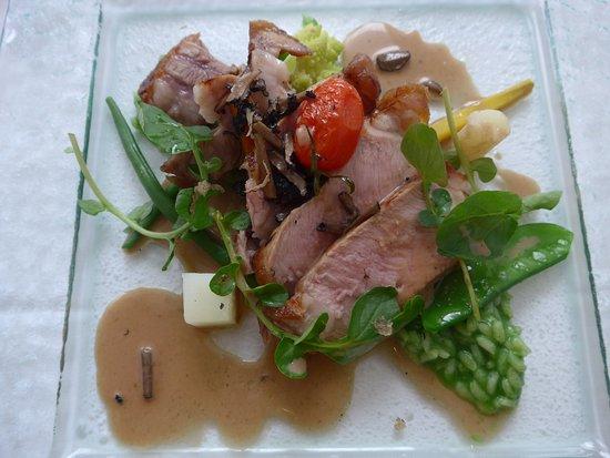 Avenches, Suiza: Wunderbares Hauptgericht