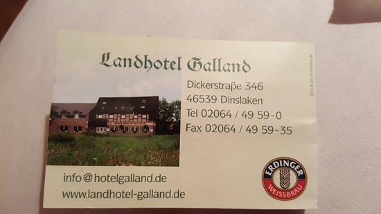 landhotel galland dinslaken tyskland omd men och prisj mf relse tripadvisor. Black Bedroom Furniture Sets. Home Design Ideas
