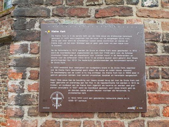 Grote Kerk: Tweede bordje met tekst over de kerk