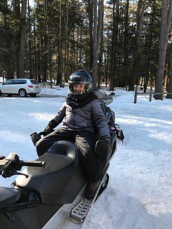 Lake Luzerne, Estado de Nueva York: My friends 11 year old couldn't wait to begin!