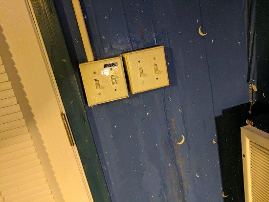 Bennett Bay Inn : Water running down the walls over the light switches!