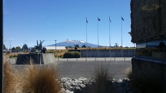 Waiouru, New Zealand: perfect day for a perfect view of Mt Ruapehu