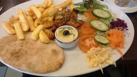 Bexleyheath, UK: chicken kebab!