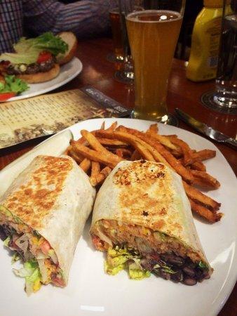 Kalamazoo, MI: Black Bean Wrap and Fries