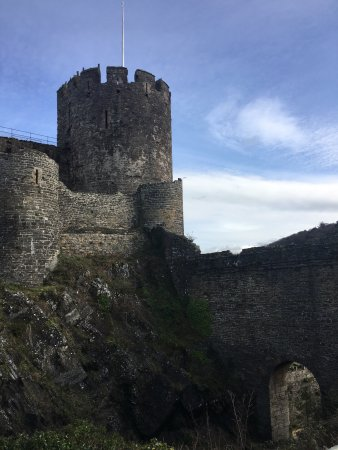 Conwy Castle: It's an amazing experience to be able to climb the castle. The scenery is good on the castle tho