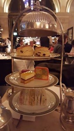 Assorted cakes and scones