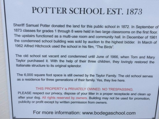 Potter Schoolhouse: School Info