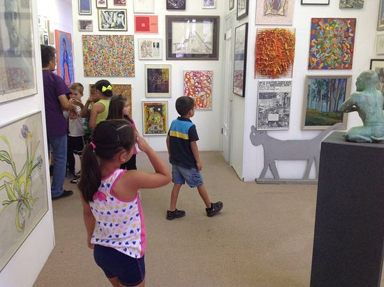 Walsenburg, CO: Early Childhood Creativity Imagination Summer Program viewing Permanent Collection, 2nd floor.