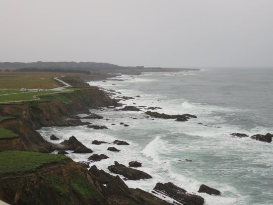 Point Arena, Kalifornia: View from the road near the lighthouse