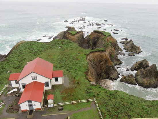Point Arena, Kalifornia: view from top of light house tower, great tour
