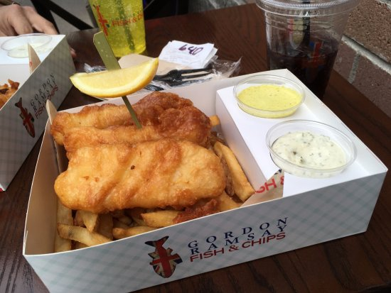 cod chips picture of gordon ramsay fish and chips las