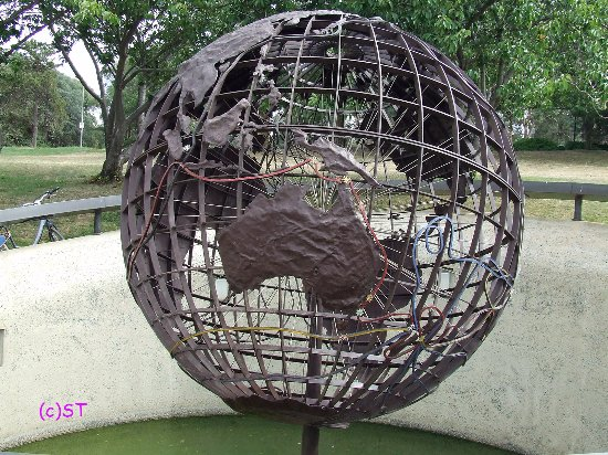 Captain Cook Memorial Globe: Captain Cook Globe