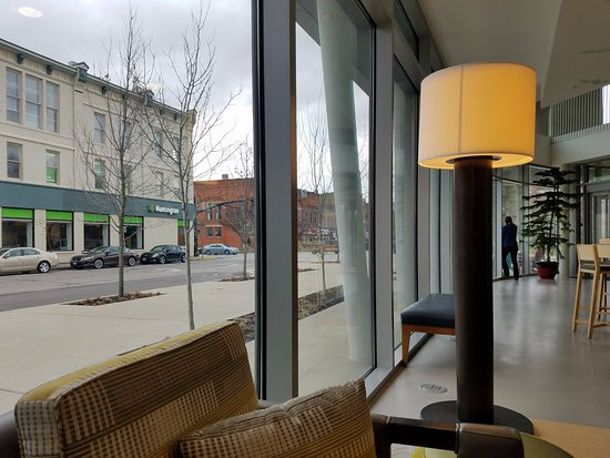 Oberlin, OH: View of town from lobby