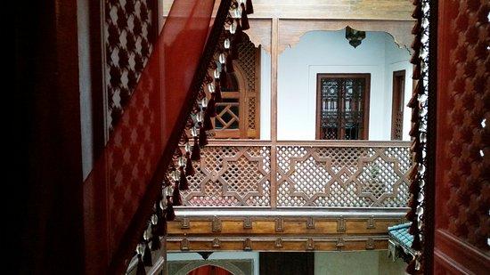 Riad Zolah: vista desde la habitación en primera planta