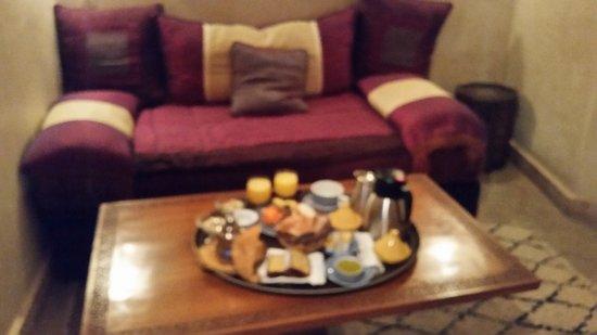 Riad Zolah: desayuno en la habitación