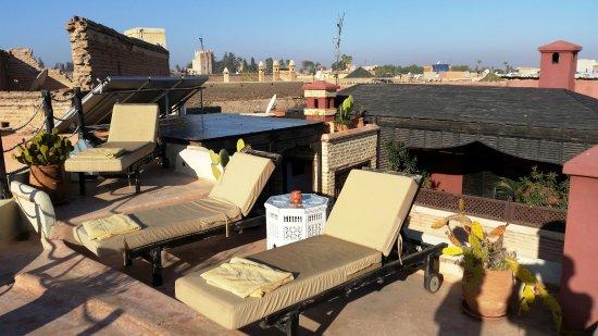 Riad Zolah: parte de la terraza