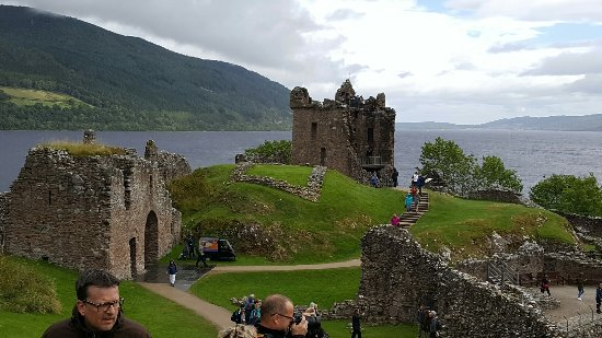 Urquhart Castle: A moody overcast day added to the sense of history