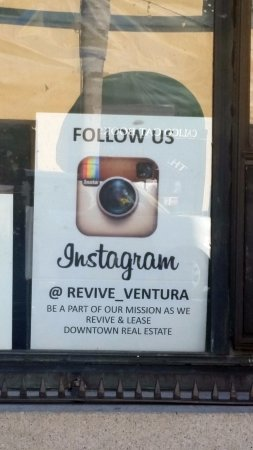 "Ventura, CA: They have this ""Instagram"" sign in their window"