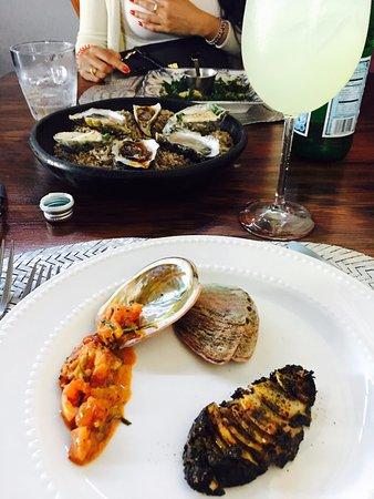 Manzanilla: Abalone prepared 2 ways