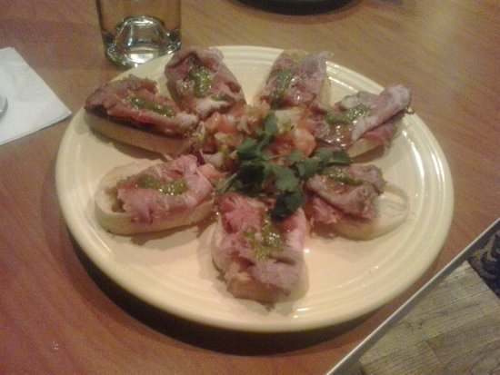 McCall, ID: Beef Bruschetta from the appetizer menu