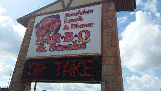 Kay's Real Pit Bar-B-Q: BBQ and steaks