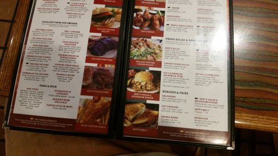 Cocoa, FL: lots to choose from in the menu